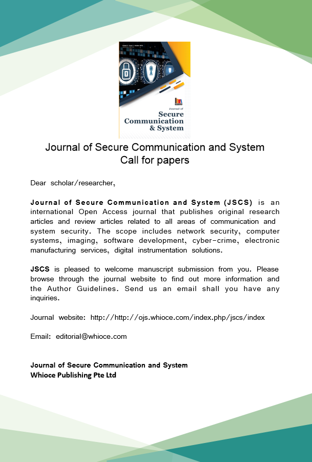 Journal of Secure Communication and System